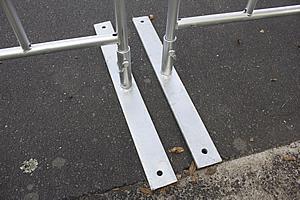Temp Fence Crowd Control Steel Feet